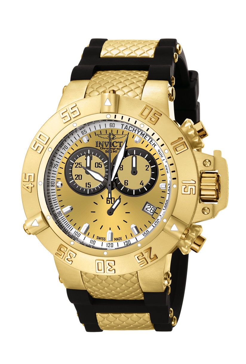 788662c1da3 Details about Invicta Men s Subaqua Collection Gold-Tone Chronograph Watch  5517