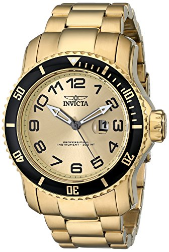 6a36f61fb38 Details about Invicta Men s 48mm Pro Diver Quartz Gold Stainless Steel  Watch-15350