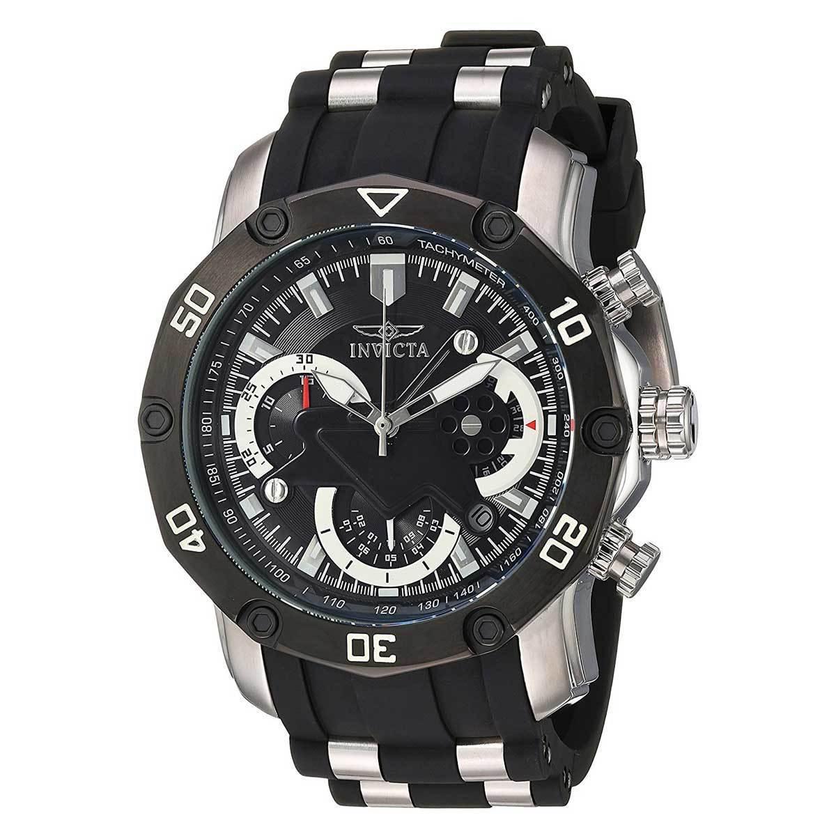f784ab1750dd Banda poliuretano negro cuarzo analógico reloj de Invicta 22797 hombres Pro  Diver
